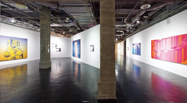 展览现场,2011年,上海沪申画廊