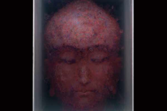 Sketch-Portrait No.5, 2012, painting on glass, 62 x 66 x 88.5 cm