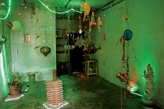 Dylan Martorell, Soundtracks-Kochi, 2012, Mixed media installation, dimensions variable