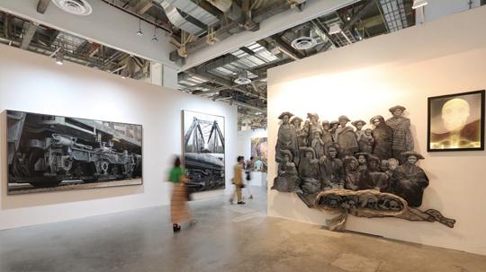 艺术登陆新加坡展会,印尼馆现场