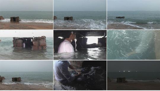 《潮》,2008年,单屏录像,13分45秒