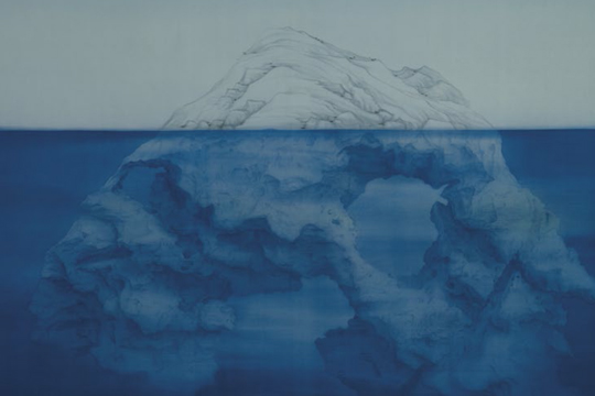 Xu Lei, Sea and Sky, No.2, 2013. Ink and color on silk. 104 x 195 cm
