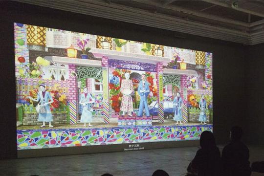 《花山墙》,展览现场 2013年 耿画廊,台北