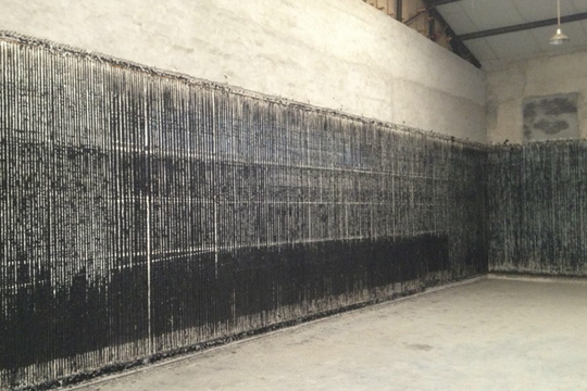 In Memory of Hans van Dijk, 2006-2013. Mixed media on canvas, 300 x 2500 cm Courtesy of Boers-Li Gallery