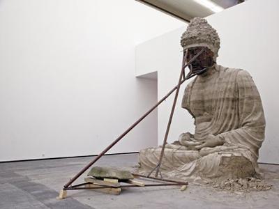 Zhang Huan, Berlin Buddha, 2007, ash, 350 x 480 x 290 cm