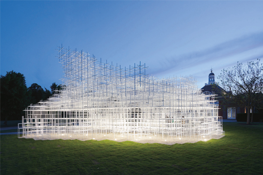 View of the exterior, courtesy of Sou Fujimoto Architects. PHOTO: Iwan Baan