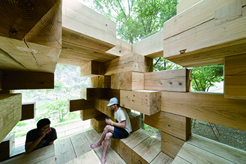 Final Wooden House (detail), 2008, Designed by Sou Fujimoto Architects, Kumamoto, Japan PHOTO: Iwan Baan