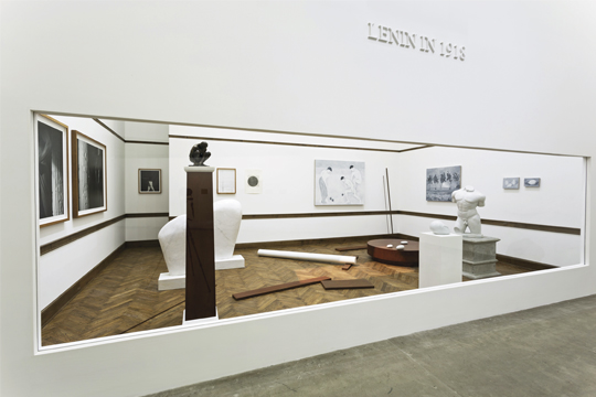 Lenin in 1918, installation view, 2013 Courtesy of the artist and Galerie Urs Meile, Beijing- Lucerne