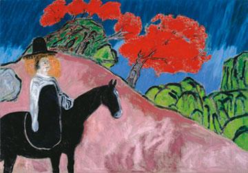 《散步者》,2013年,布面油画,280 × 400厘米