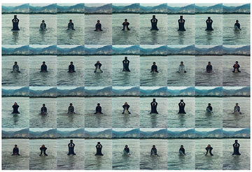 Song Dong, Printing on Water, 1996 Performance in the Lhasa River, Tibet, 36,chromogenic prints 60.5 x 39.9 cm each PHOTO: Eugenia Burnett Tinsley Courtesy of the Metropolitan Museum ofArt, Promised Gift of Cynthia Hazen Polsky