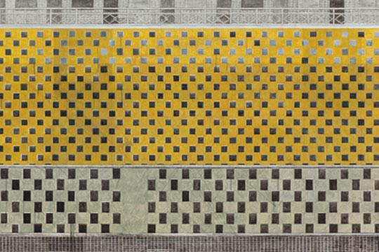 《我收买并实施了曾宏的方案》 2013年 布面丙烯,273×160厘米