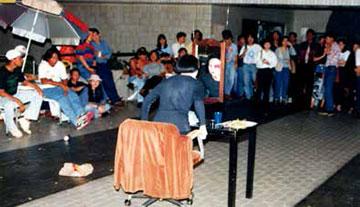 第五通道艺术空间,艺术家联合大会活动现场,1989年。