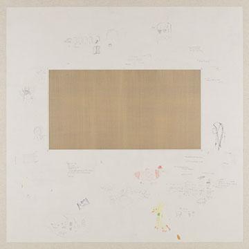 Memorandum (Shanghai 2014.02.07 – 2014.03.14 ), 2014 Pencil, colour pencil, acrylic, linen, wooden frame 122 x 122 x 5 cm