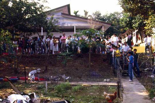 艺术家村第二次开放工作室行为表演,1989年。
