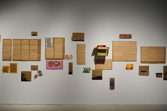 段建宇,《纽约巴黎驻马店》,2008年,展览现场