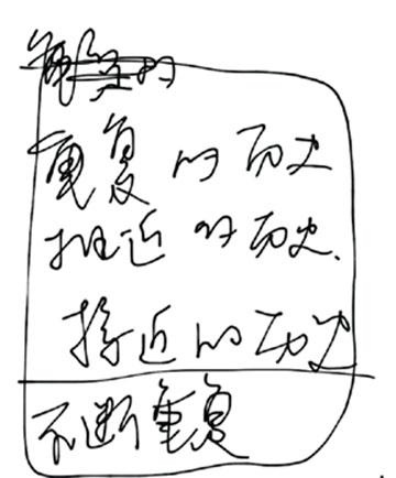 Xu Zhen, manuscript, 2010 (Long March Project – Ho Chi Minh Trail)