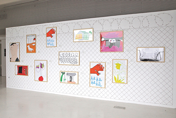 Yangtze River Space Song Ta, Painting of 12 Participating Art Spaces Li Jinghu, Prisoners (wall) Exhibition view, 2014