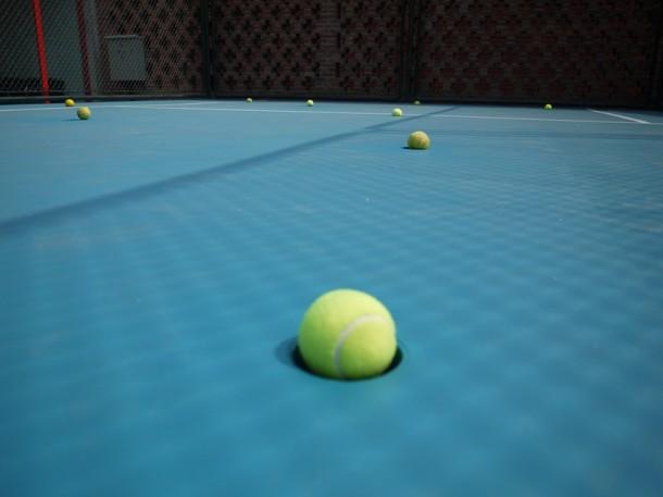 Xu Qu, Tennis Court, 2014, detail, Taikang Space, Beijing. Courtesy of Taikang Space.
