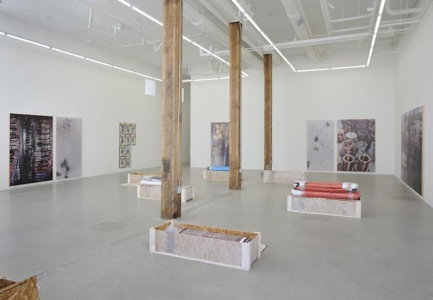 "Hugh Scott-Douglas, ""Promises to Pay in Solid Substance,"" 2014, Jessica Silverman Gallery, San Francisco. Installation view. Courtesy of Jessica Silverman Gallery and the artist."