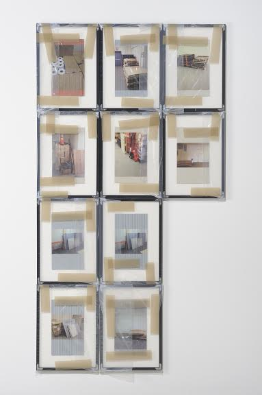 Hugh Scott-Douglas, Untitled, 2014. Set of ten images, UV curable ink on styrene in frame, wrapped in polyester with tape, 18 1⁄4 x 13 1⁄4 inches each. Courtesy of Jessica Silverman Gallery and the artist.
