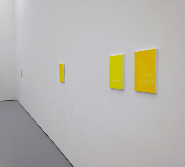 He Xiangyu, Lemon Flavored, 2014, acrylic on canvas, 35.6 x 27.9 cm. Photo: Lida Zeitlin Wu.