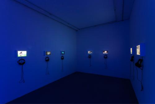 """LinK""展览现场,2014年,北京杨画廊"