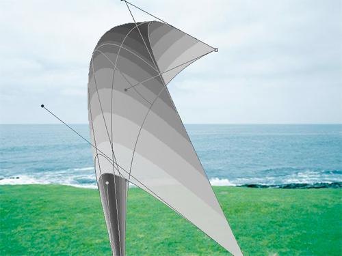 《虚拟内存的风》,2013年,4:3录像装置,1分钟循环