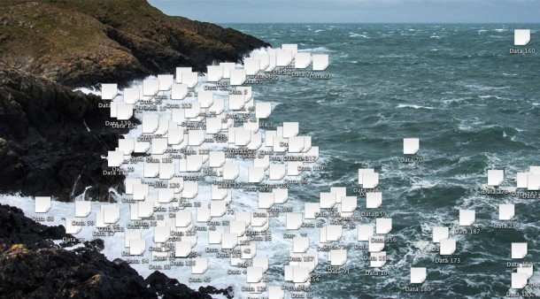 Data Foam Board, 2013, Archival inkjet print 120 x 57.56 cm