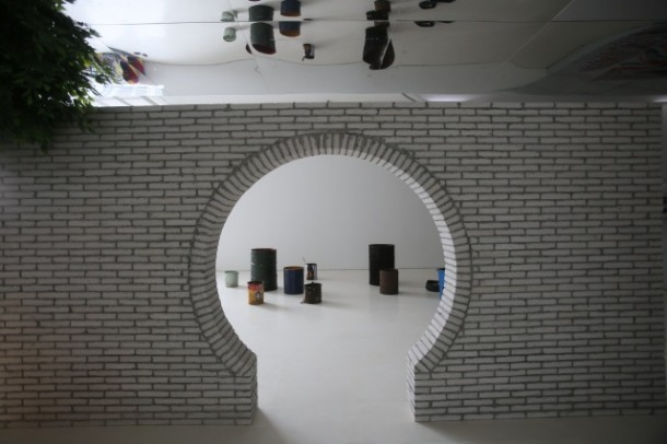 O-office Architects, Gallery, Street, 2014 Architectural intervention, installation view