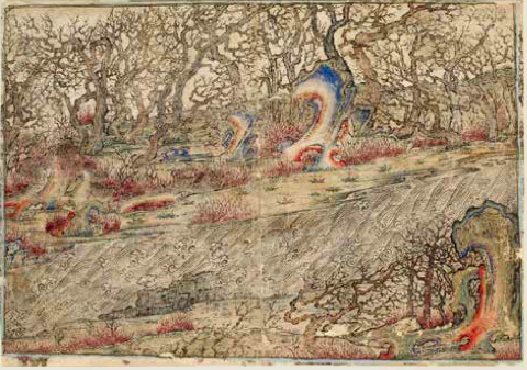 River Landscape in Chinese Style, Iran, Early fourteenth century