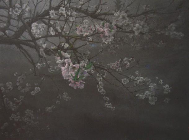 《桃花洞村口》,2007年,布面油画,108cmx142cm