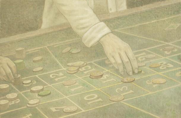 《皖南纪事》,第二幕第七场,2014年,布面油画,65cmx43cm