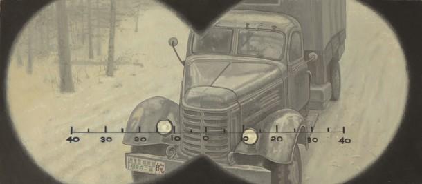 《皖南纪事》,第二幕第四场,2014年,布面油画,98cmx43cm