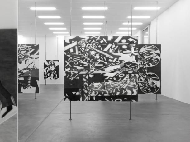 """艾利·辛格,""""图像惩治语言"""",装置视角,苏黎世艺术展览馆,苏黎世,瑞士 照片:安妮克·维特,苏黎世艺术展览馆提供"""