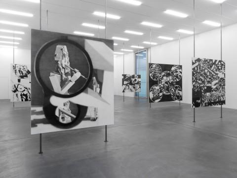 """Avery Singer, """"Pictures Punish Words,"""" installation view, 2014 Kunsthalle Zürich, Zürich, Switzerland PHOTO: Annik Wetter Courtesy of Kunsthalle Zürich"""