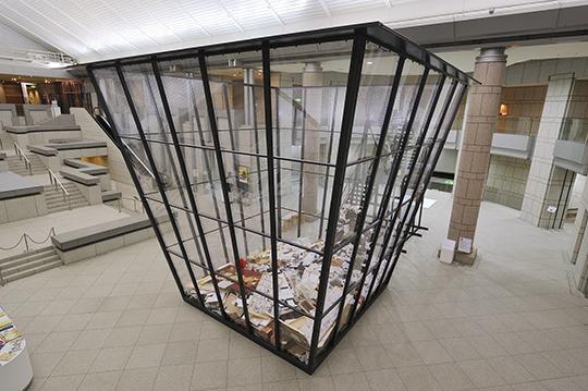 Michael Landy, Art Bin, 2010/2014 Installation view, 2014 PHOTO: Tanaka Yuichiro Courtesy of Organizing Committee for Yokohama Triennale