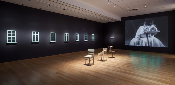 "Installation view of ""Sturtevant: Double Trouble,"" 2014 The Museum of Modern Art, New York PHOTO: Thomas Griesel. Courtesy of Estate Sturtevant, Paris"