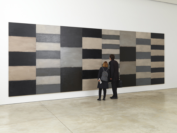 夜与日,铝塑板上油画279.4 x 812.8厘米,2012