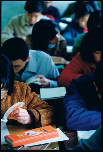 任曙林,《北京171中学教室》, 1983年, 摄影