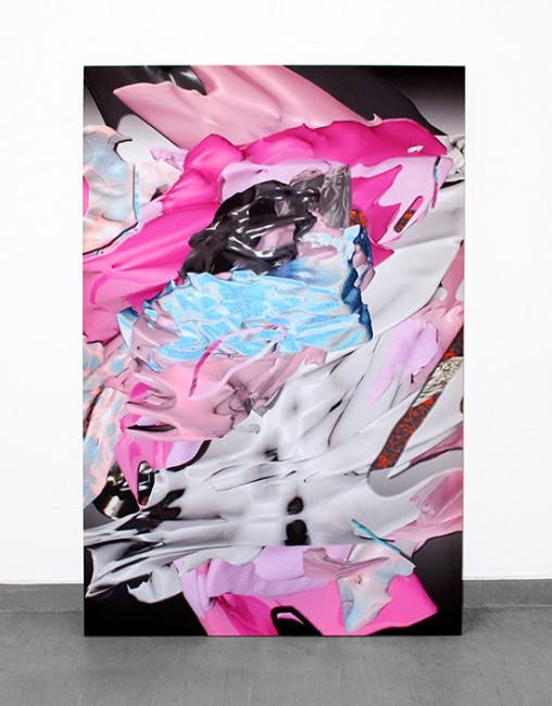 """EAT U UP,"" 2014  inkjet on silk, 120 x 180 cm Courtesy of the artist"