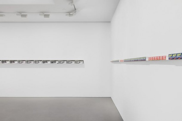 "Michael Wang, ""RIVALS,"" installation view, Andrea Rosen Gallery 2, New York, 2014. Courtesy of Andrea Rosen Gallery in collaboration with Foxy Production."