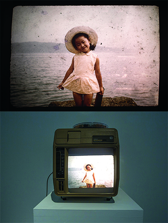 Slideshow Cinema VI — An Autumn Afternoon , 2014, Slide projector, 80 slides, cassette tape, 15 min