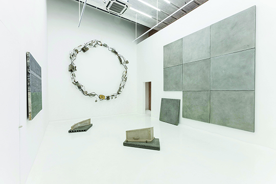 "View of ""Omnipresent Concrete,"" 2014"