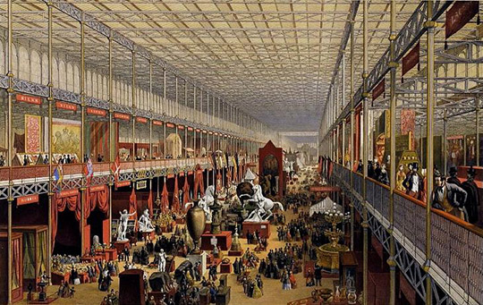 Crystal Palace in London during the Great Exhibition of 1851 William Simpson (lithographer), Ackermann & Co. (publisher) 1851, V&A collection