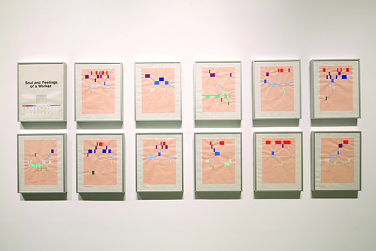 KP Brehmer, Soul and Feelings of a Worker (Version 2), 1978-1980 Emulsion paint and pencil on paper, courtesy Sammlung Block