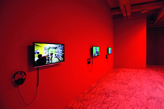 "Installation view of ""Practicing LIVE,"" 2014, Taipei Fine Arts Museum"