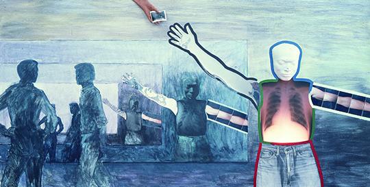 《无限效应》,1983年,综合媒介,240 × 120 厘米