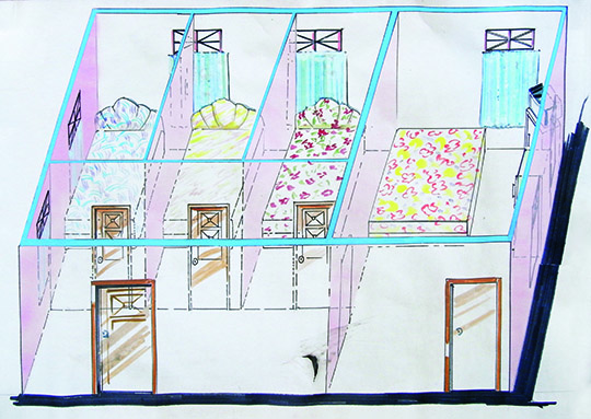 Xu Tan, The Alterations and Extensions of No. 14 Sanyu Rd., Guangzhou, 1994, sketch for brothel