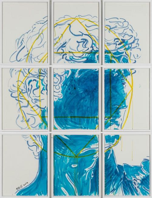 《正面》,2014年,彩色墨水,75.5×56厘米每张,共9张 图片由展台中国提供