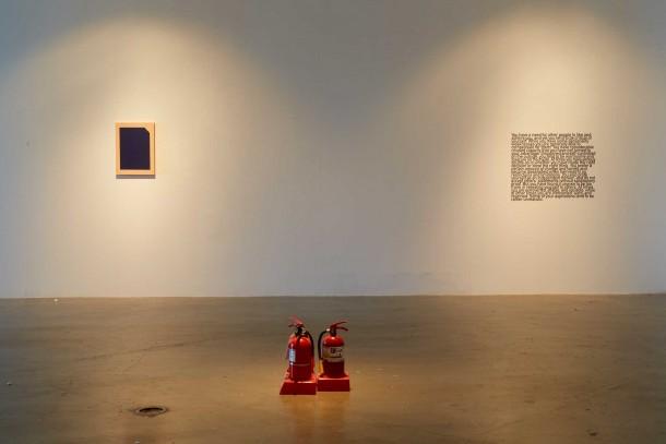 """""""不曾,沉闷片刻"""", 展览现场, 2015年, 首尔Sonje艺术中心"""